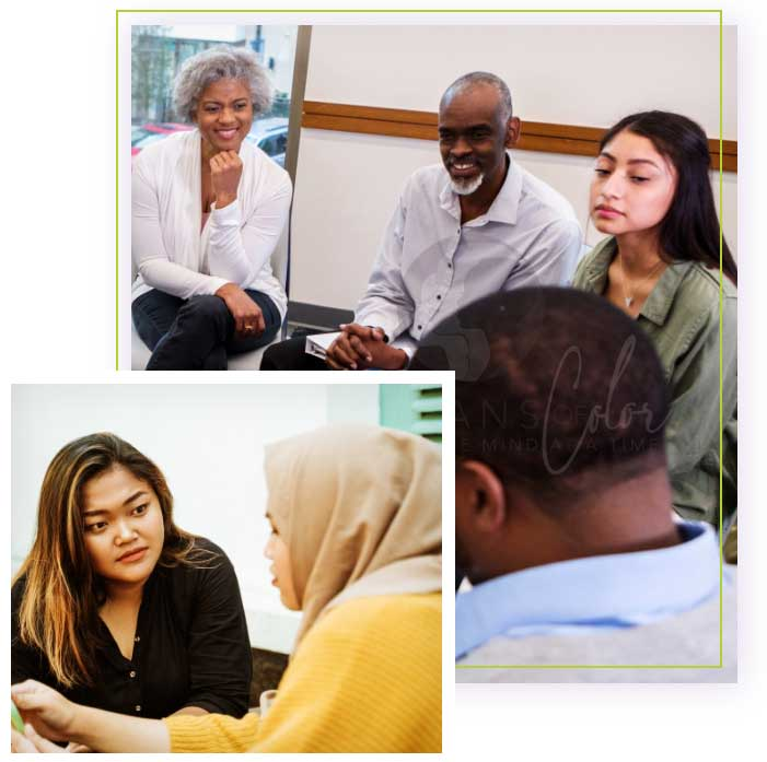 Sample Therapy and Group Therapy Sessiosn Led by Therapists of Color